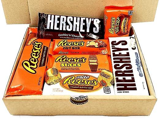 Assortierte Packung Snacks Reeses Hersheys Geschmack American