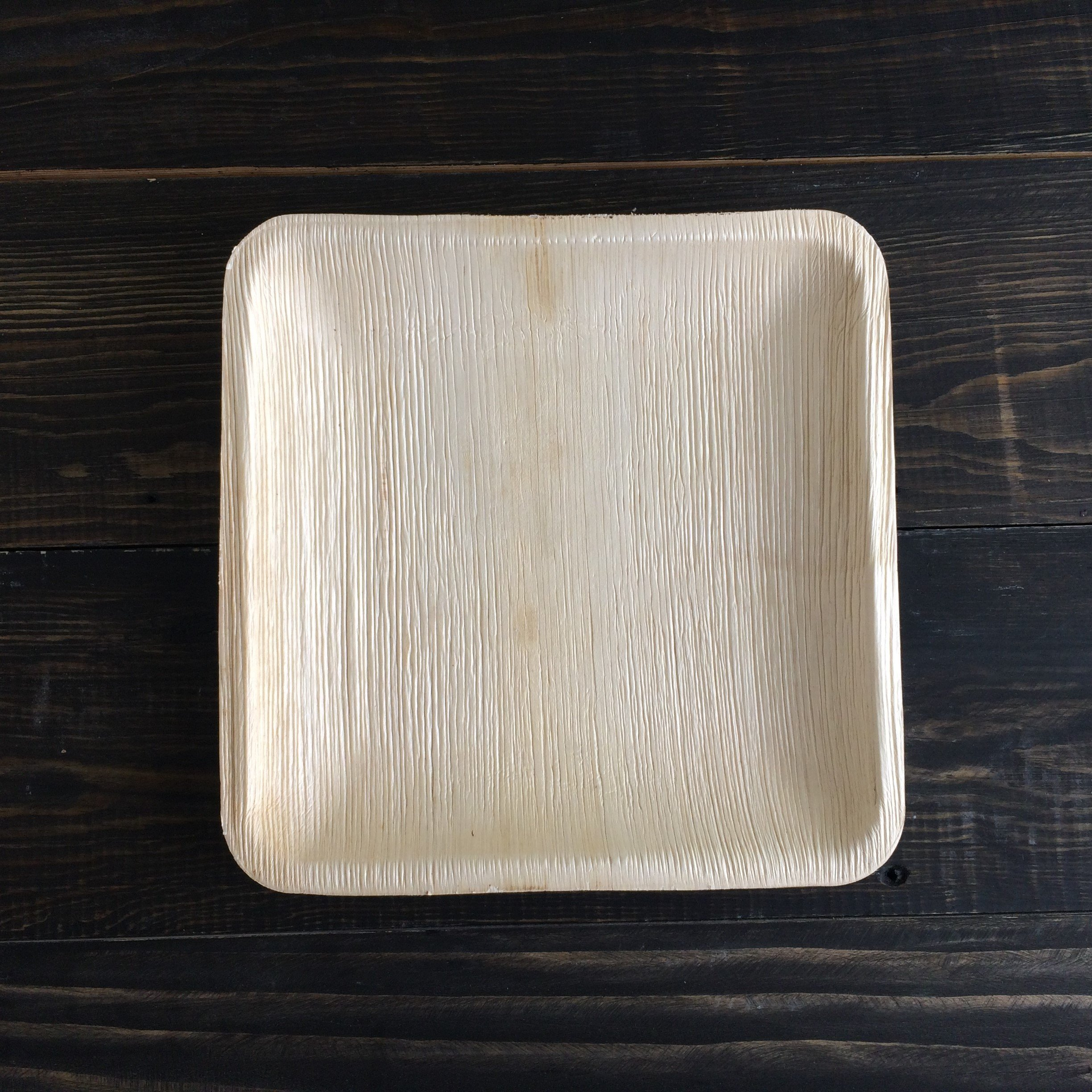 Disposable Plates Made of Palm Leaf: Heavy Duty & Eco - Better Than Wood & Bamboo- Square Shape (6'' Square Plate - 25 Pcs, Peach to tan) by Adaaya (Image #4)