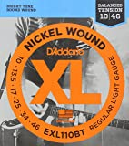 D'Addario EXL110BT Nickel Wound 10-46 Regular Light Electric Guitar Strings