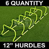 """12"""" SPEED HURDLES - New & Improved Design for Agility Training [Set of 6] [Net World Sports]"""