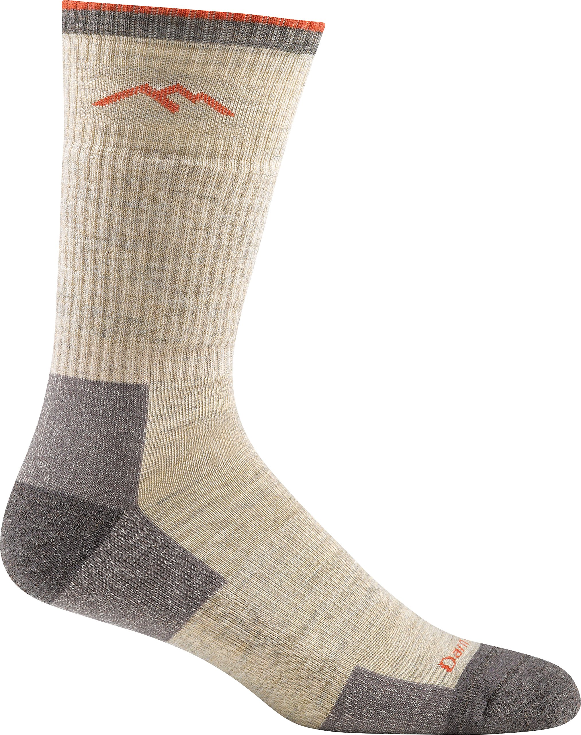 Darn Tough Men's Wool Boot Cushion Sock (Style 1403) - 6 Pack Special Offer (Oatmeal, Medium) by Darn Tough