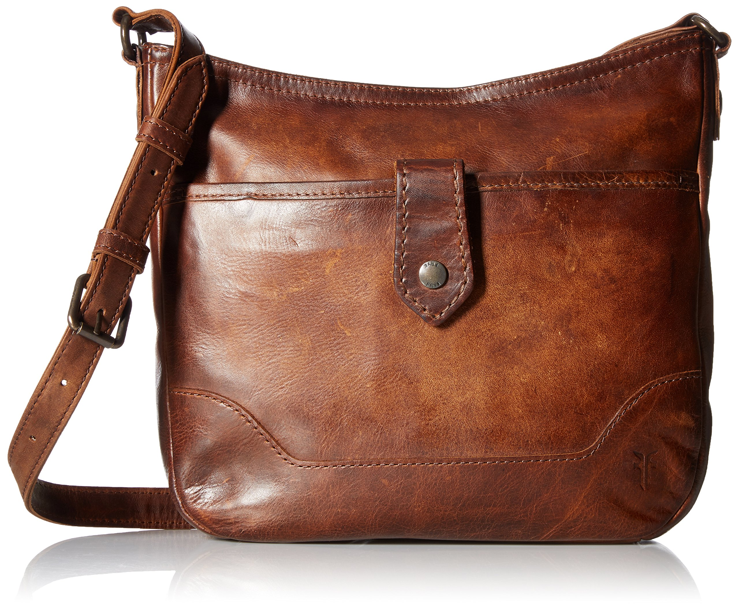 Frye Melissa Button Crossbody Bag, Dark Brown, One Size