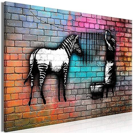 LEINWAND BILDER Tiere Zebra WANDBILDER XXL Wohnzimmer Kunstdruck Kinder Kinder