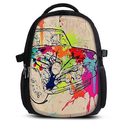 MySleeveDesign Mochila escolar para niños y niñas con compartimentos práctica para portátiles - Espalda y compartimentos