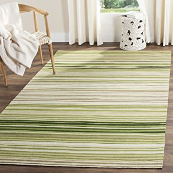 Safavieh Marbella Collection MRB273A Flat Weave Green Wool Area Rug (8 x 10)