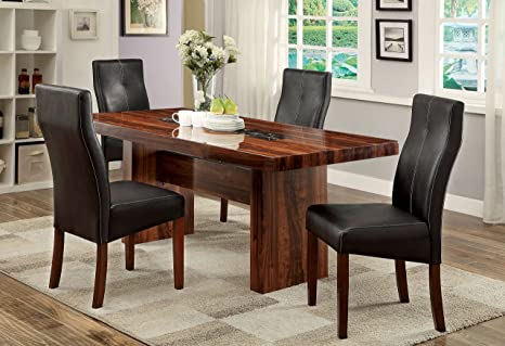 Outstanding Amazon Com Furniture Of America Kona 5 Piece Contemporary Gmtry Best Dining Table And Chair Ideas Images Gmtryco