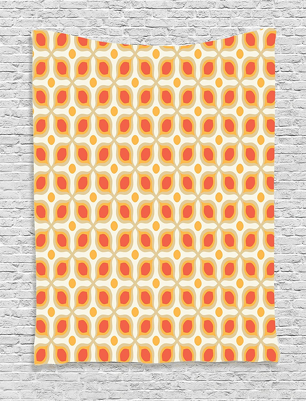 Amazon.com: Orange Tapestry Bohemian Decor Ambesonne, Vintage Style ...