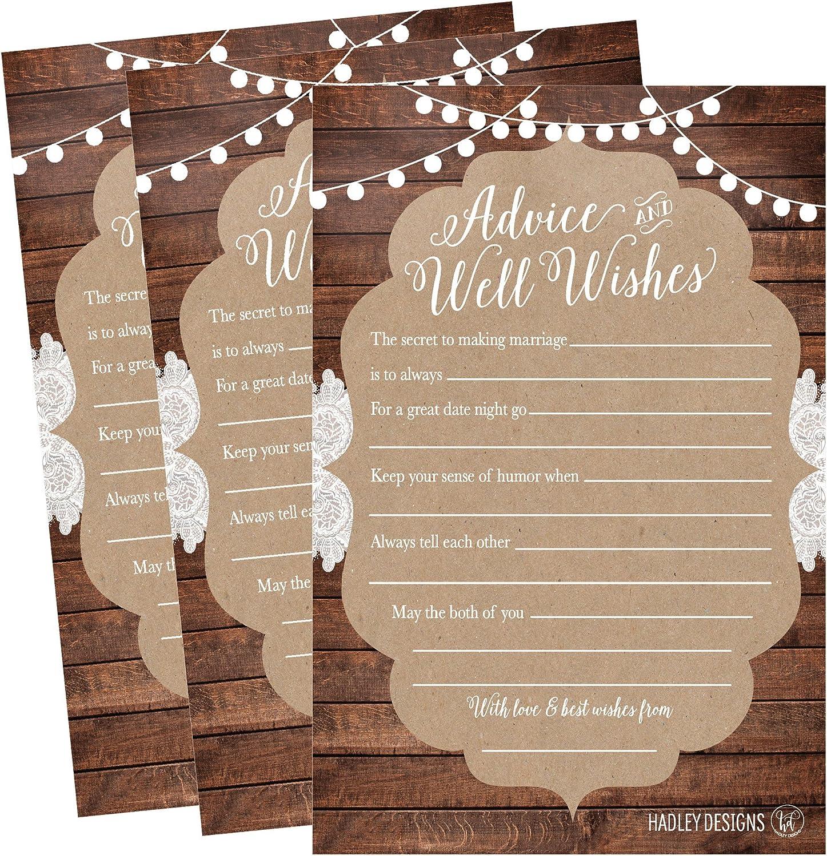 Souhaits et conseils cartes pour le nouveau M /& Mme Mariage Livre d/'or Alternative