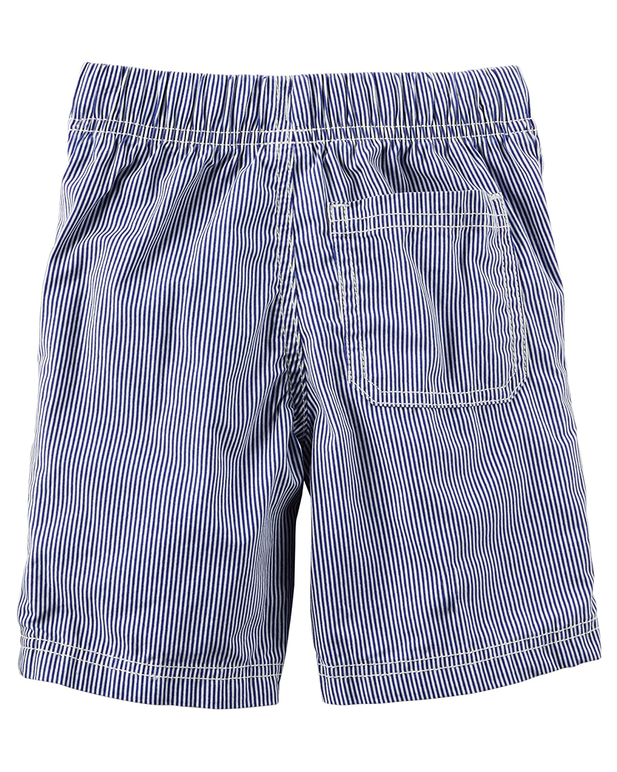9 Months Carters Boys Striped Blue /& White Pull On Cotton Shorts