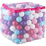 Click N' Play Value Pack of 400 Crush Proof Plastic Play Balls, Phthalate Free BPA Free, 5 Pretty Feminine Colors in Reusable