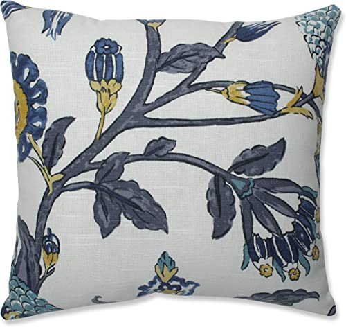 Pillow Perfect Auretta Peacock Throw Pillow, 16.5-inch, Grey