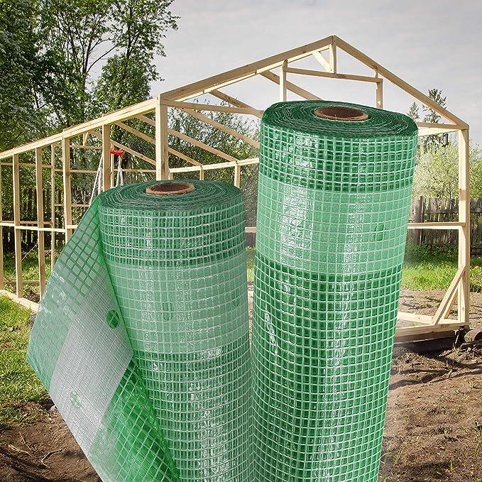 2m Gewächshausfolie Gitterfolie Frühbeetfolie Gartenfolie 250g 1,5m breit grün