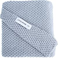Little Archer & Co.™ Knitted Blanket for Newborns and Infants, 100% Cotton, Grey, 75cm x 90cm