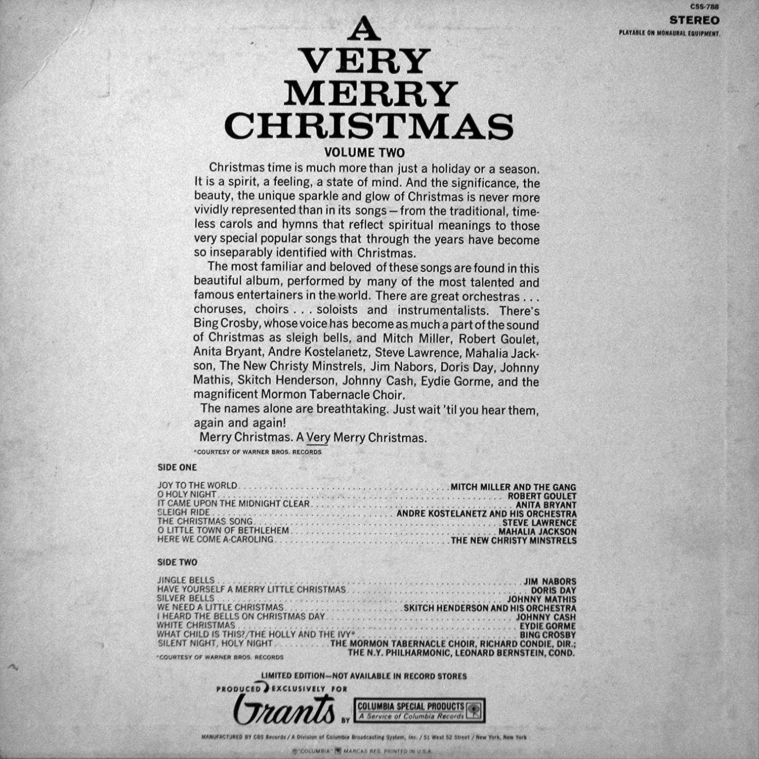 Columbia Special Products - A Very Merry Christmas - Amazon.com Music