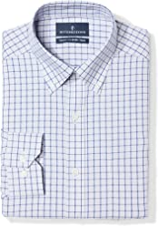 BUTTONED DOWN Men's Tailored Fit Check Non-Iron Dress Shirt
