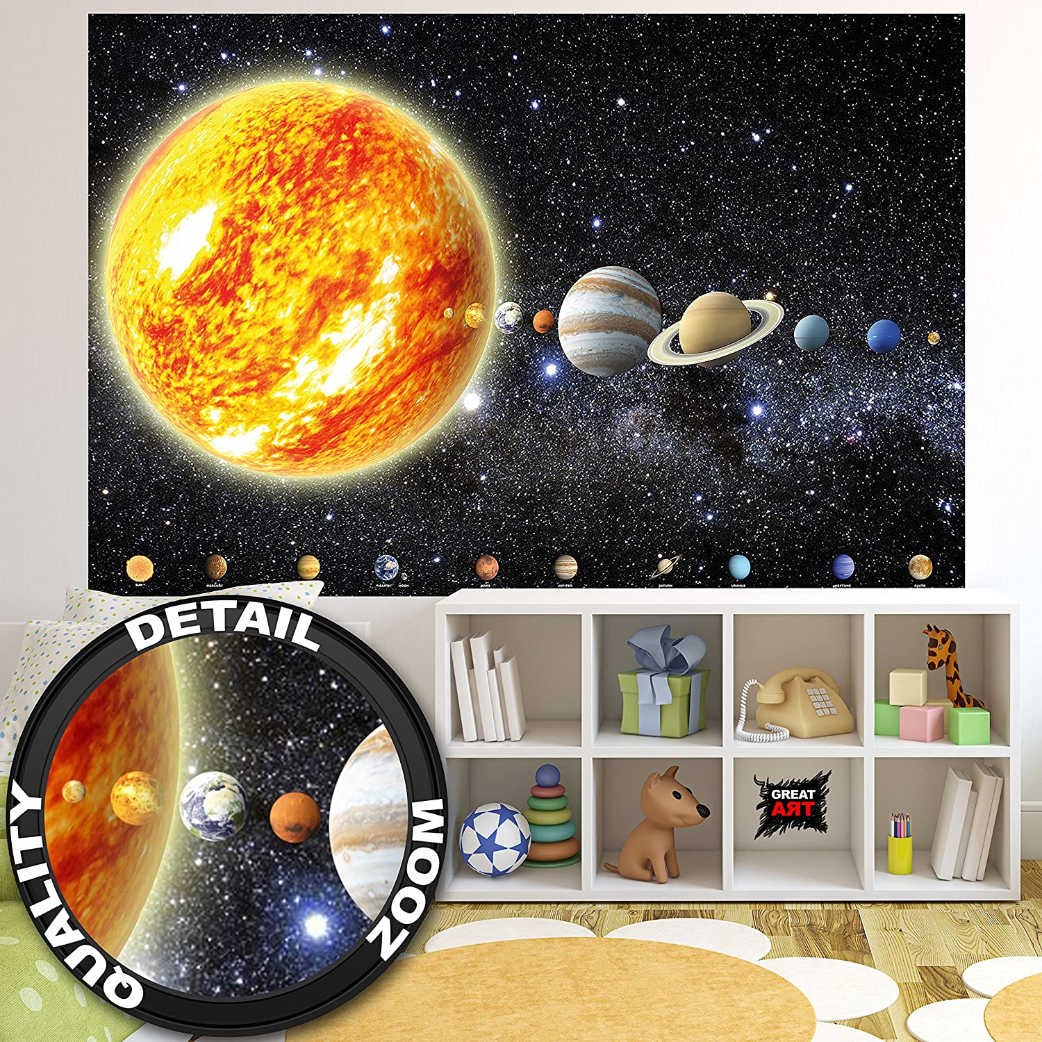 Planet Venus Picture Poster Art Space Universe Galaxy Earth Moon Framed Print