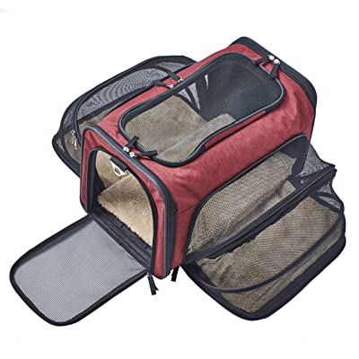 Premium Airline Approved Expandable Pet Carrier by Pet Peppy
