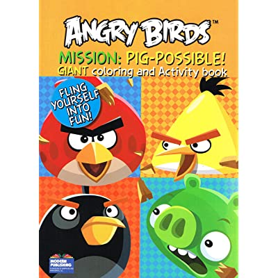 Modern Publishing Angry Birds Giant Coloring and Activity Books (2 Book Set) - 96 Pages Each: Toys & Games
