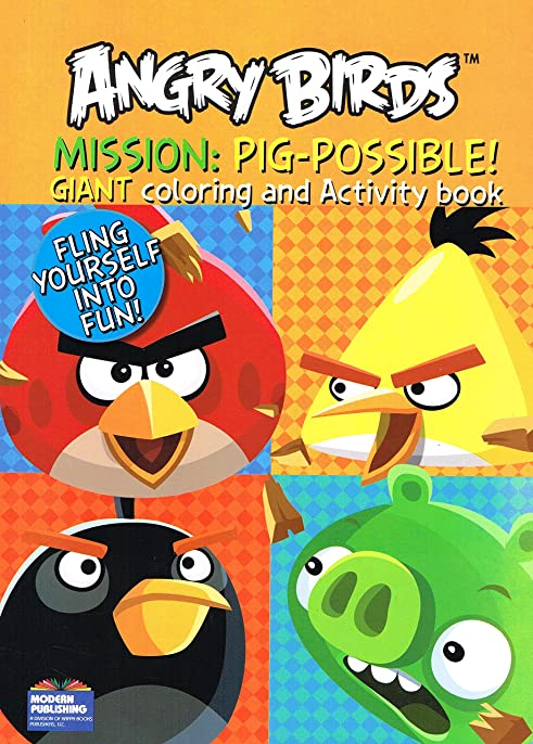 Angry Birds Giant Coloring And Activity Books 2 Book Set