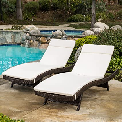 Lieblich Christopher Knight Home 585 Salem Chaise Outdoor Lounge (Set Of 2)