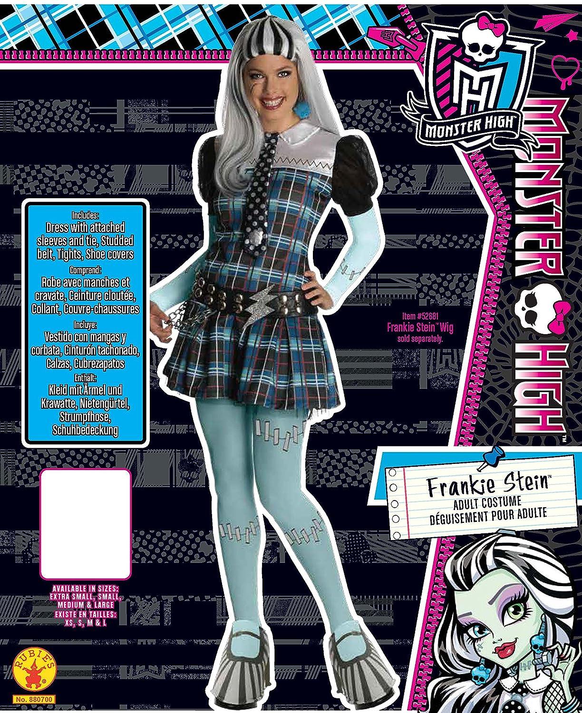 Monster High - Disfraz de Frankie Stein para mujer, Talla única adulto (Rubies 880700): Amazon.es: Juguetes y juegos