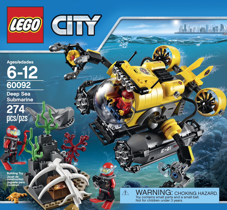 LEGO City Deep Sea Explorers 60092 Submarine Building Kit by LEGO