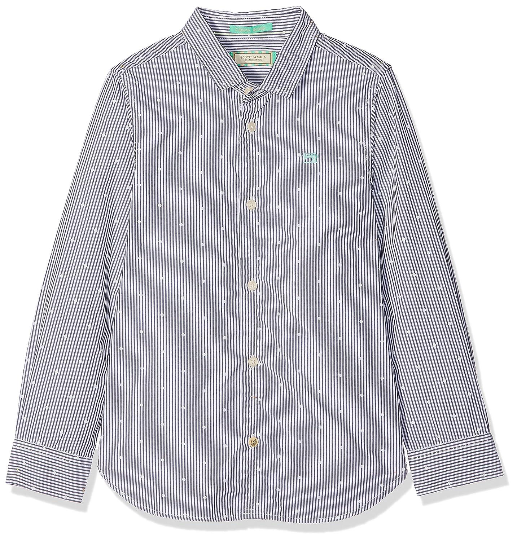 Scotch & Soda Boy's Basic Yarn-Dyed Shirt Blouse Scotch & Soda Shrunk 142989
