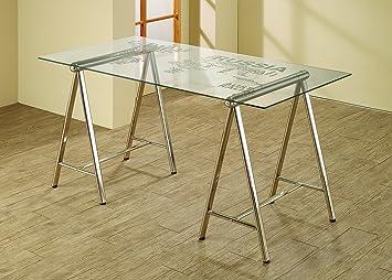 Amazoncom Coaster Home Furnishings Contemporary Writing Desk - Contemporary writing desk furniture