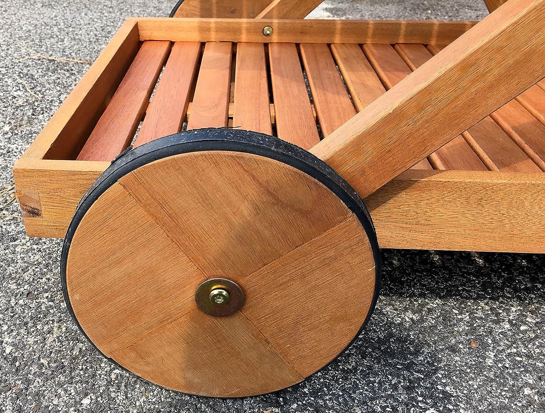 Carrello Portavivande Da Giardino : Carrello portavivande in legno da giardino relaxdays carrello da