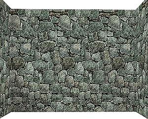 Forum Novelties Dungeon Decor 20 X 4 ft Roll Indoor/Outdoor Stone Wall Decoration, Gray