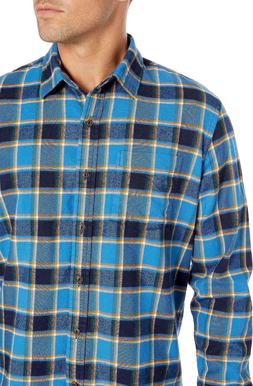 camicia da uomo a maniche lunghe in flanella spazzolata Goodthreads Marchio Standard Fit