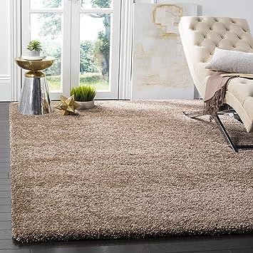 safavieh milan shag collection sg1801414 dark beige area rug 8u0027 x 10 - Safavieh Shag Rug