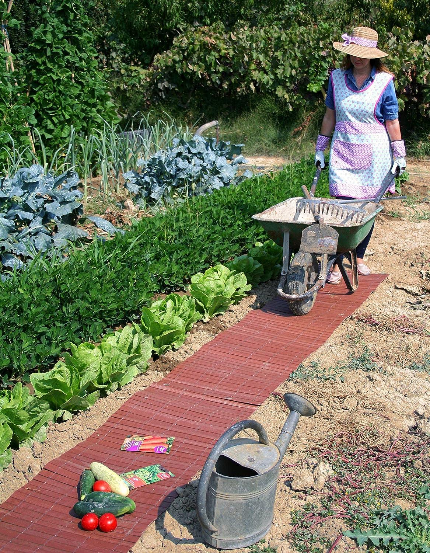 Alfombra para huerto o jardín en madera composite. Rollo de 2, 50 m. Color madera: Amazon.es: Jardín