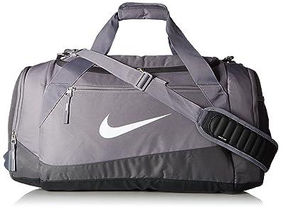 New Nike Elite Max Air Team Large Basketball Duffel Bag Charcoal/Dk  Grey/White