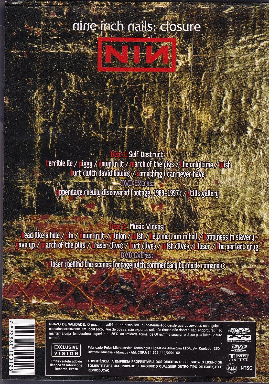 NINE INCH NAILS CLOSURE (2 DVD): Amazon.co.uk: Nine Inch Nails: DVD ...