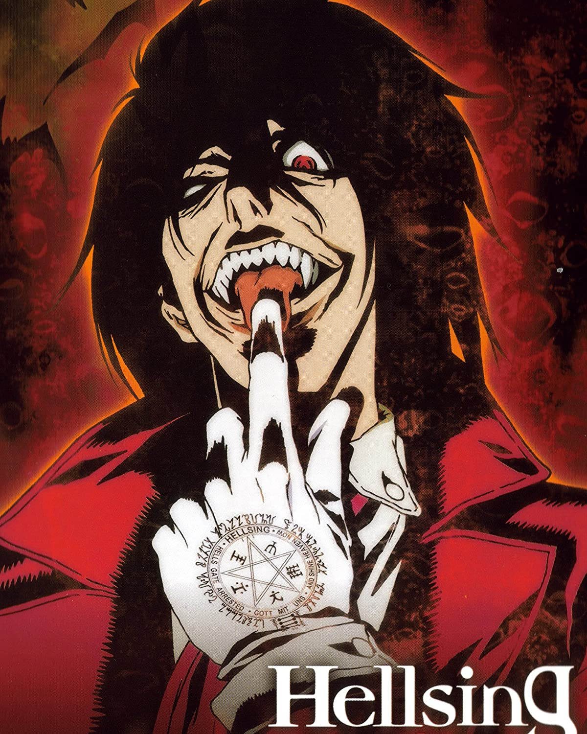 Amazon Com Superior Posters Hellsing Anime Poster Vampire Fighting Japan Hot Art Manga Alucard Wall Print Japanese Home Decor 16x20 Inches Home Kitchen