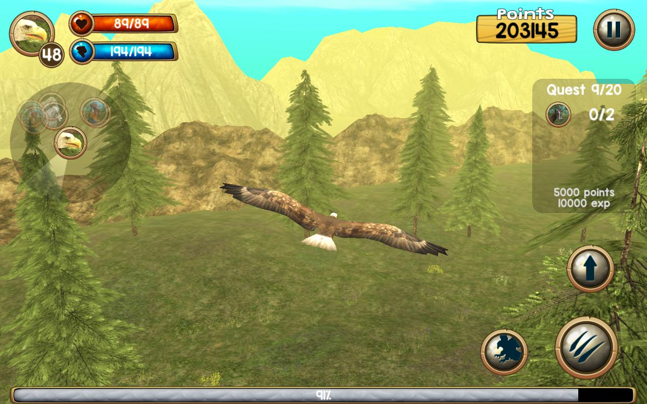 Amazon.com: Wild Eagle Sim 3D: Appstore for Android