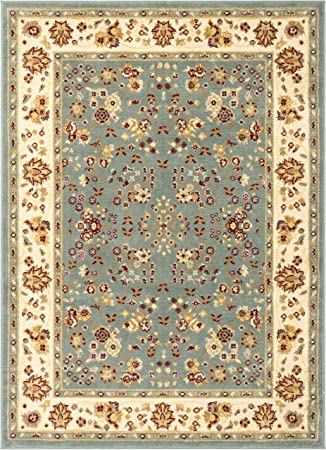 Well Woven Miami Bijar Classic Blue Traditional Area Rug 5 X 7 Furniture Decor