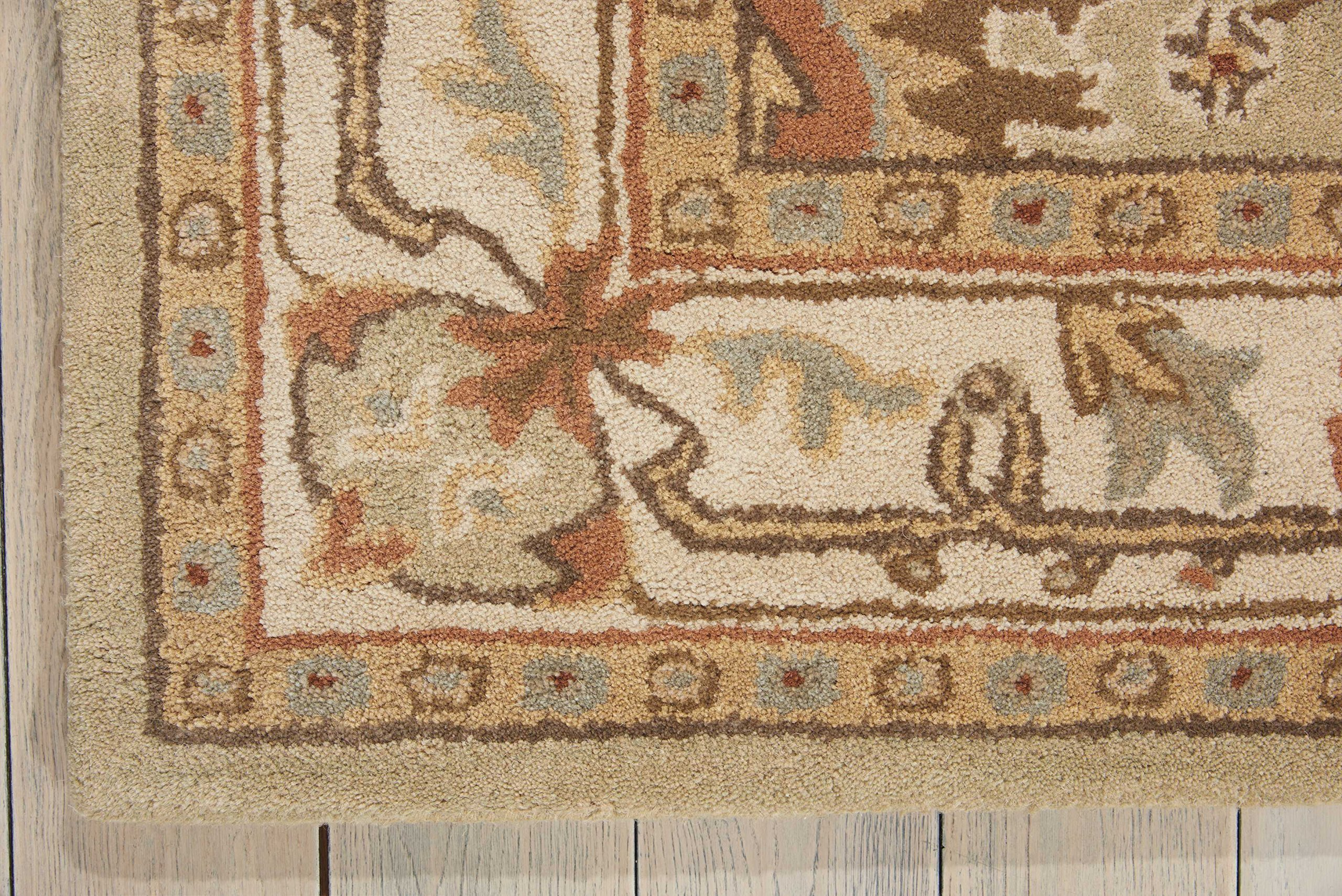 Nourison India House (IH76) Sage Rectangle Area Rug, 2-Feet 6-Inches by 4-Feet (2'6'' x 4') by Nourison (Image #4)
