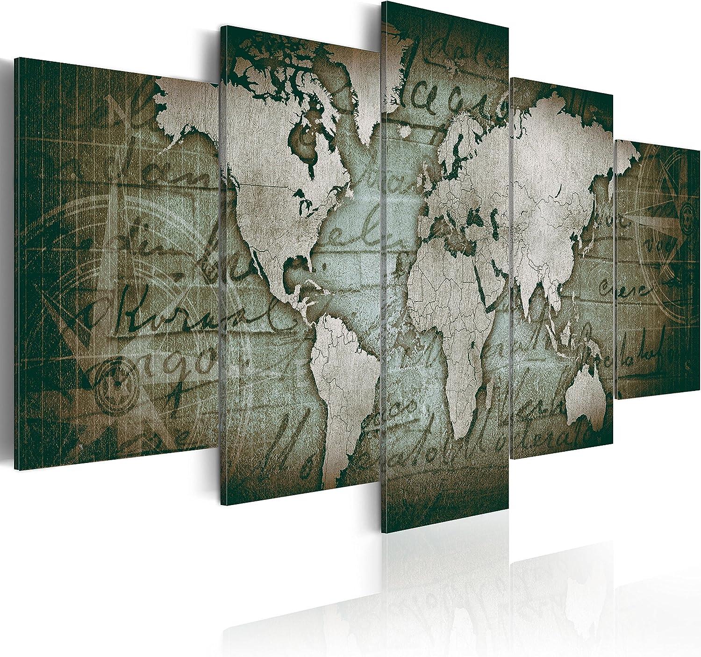 World Map Modern Abstract Canvas Print Painting Framed Home Decor Wall Art 5Pcs