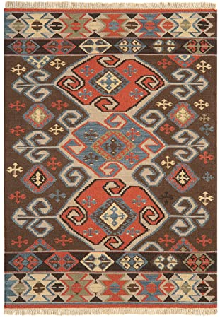 Tapis de Salon Moquette Oriental Carpet Persan Design KELIM ...