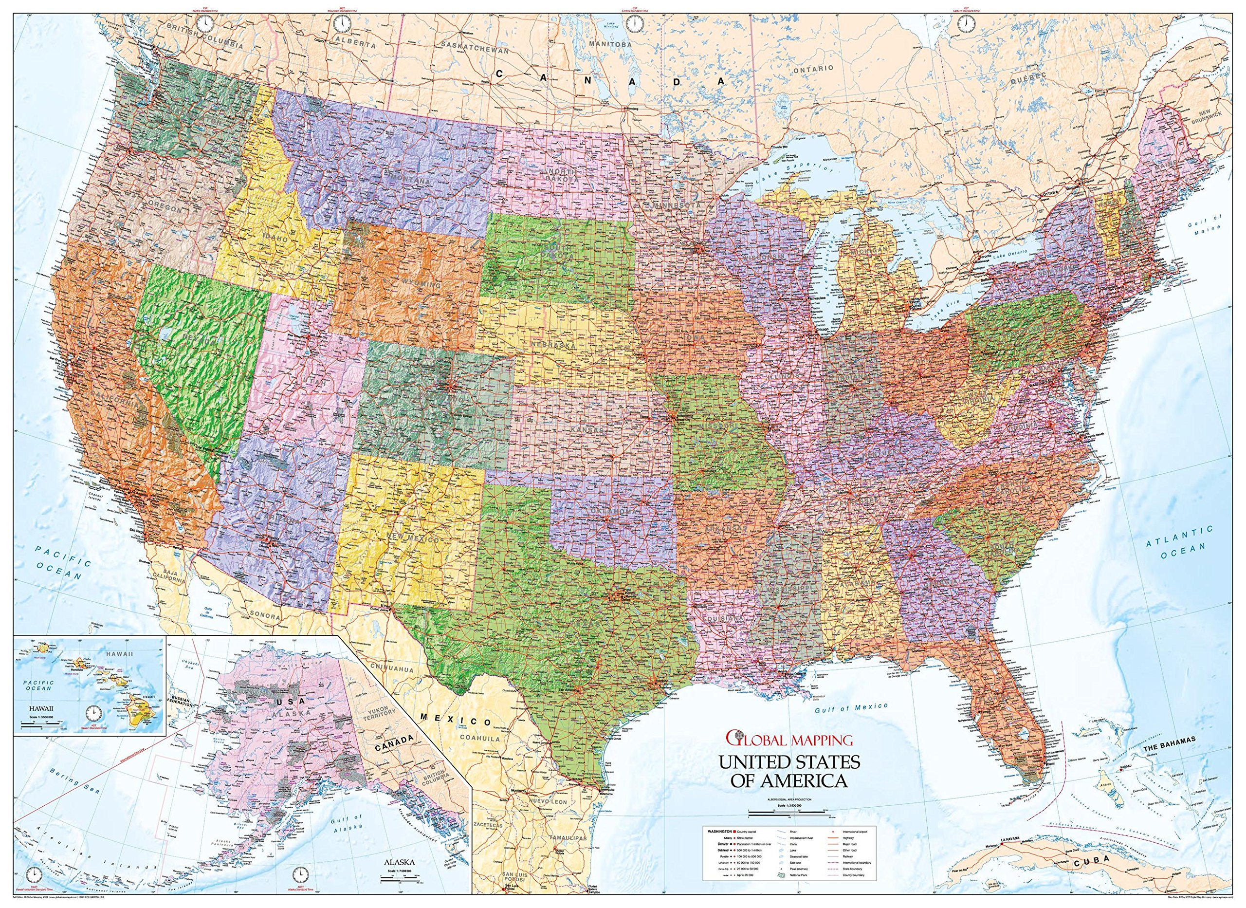 Detailed Map Of Usa.United States Of America Wall Map Usa Paper Copy