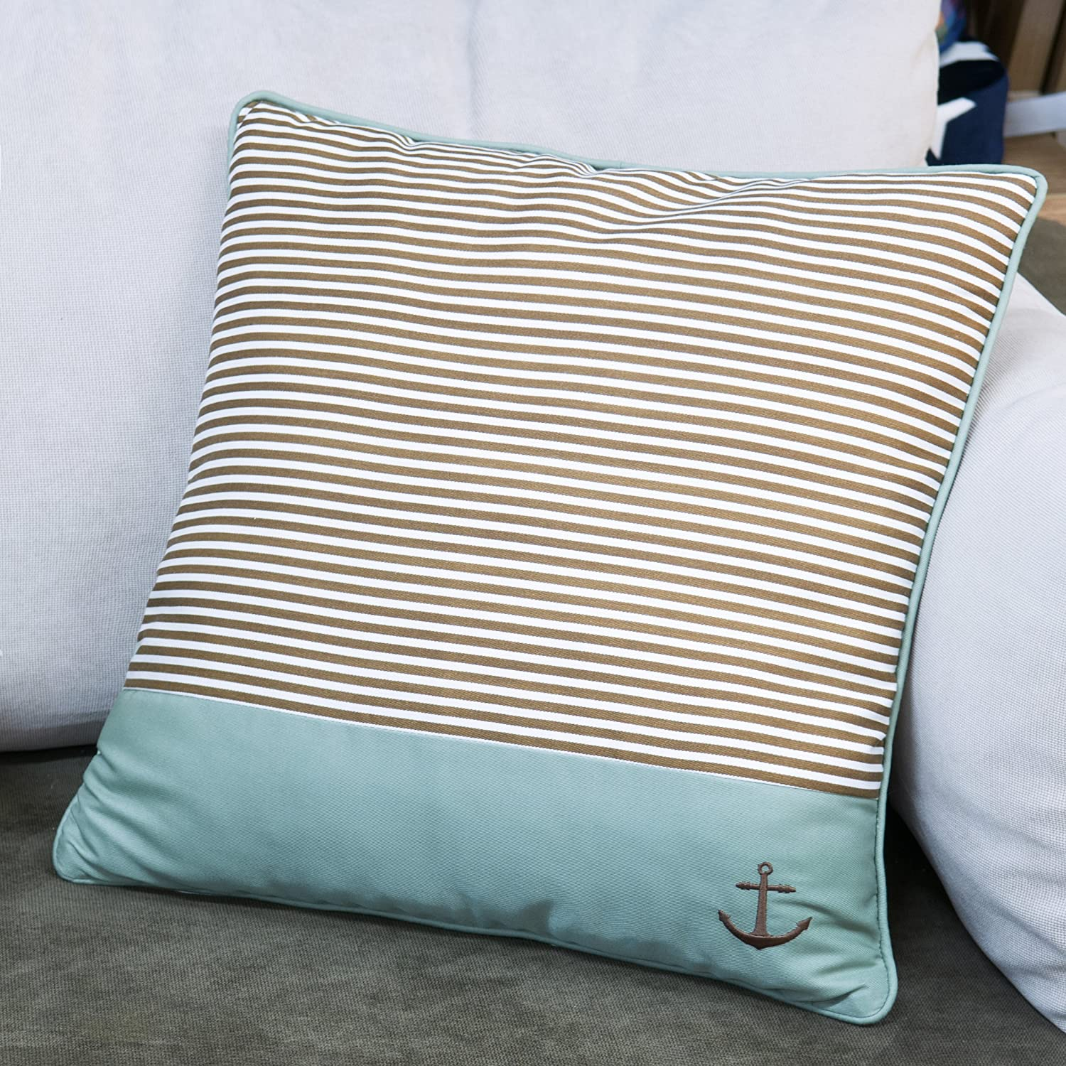 Stripe COMIN18JU016529 Shinnwa 4 Pcs Cotton Polyester Striped Decorative Throw Pillow Case Cushion Covers for Bedroom 18 By 18