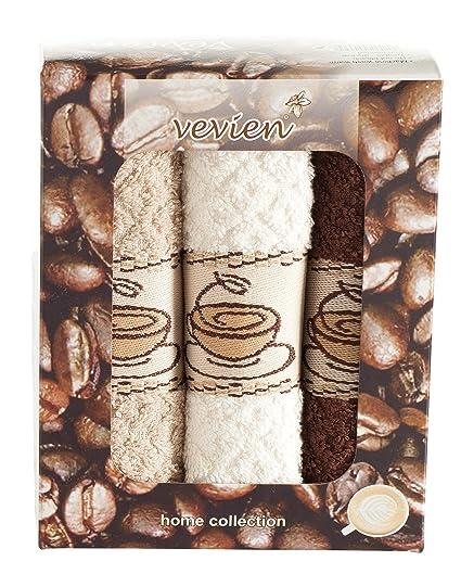 Amazon Com Ixirhome Coffee Design Kitchen Towels Gift Set 100