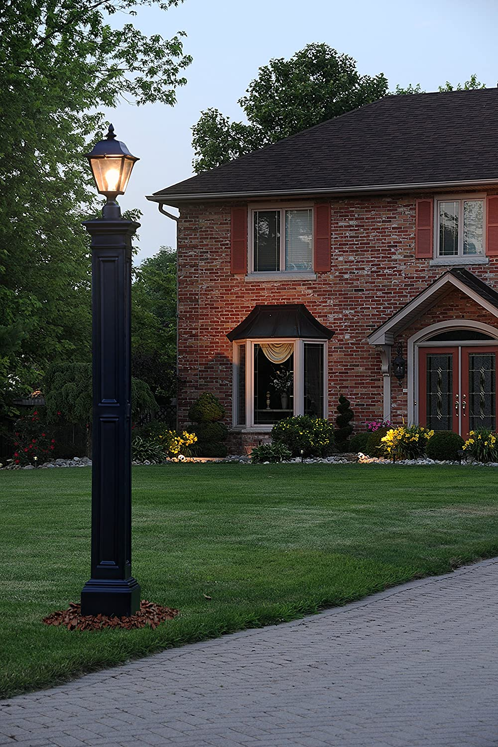 Amazon mayne 5838 wh liberty lamp post decorative post only amazon mayne 5838 wh liberty lamp post decorative post only white garden outdoor aloadofball Gallery