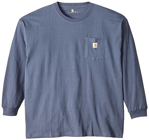 d675f95b9f2f Carhartt Men's Big & Tall Workwear Pocket LS T Shirt,Bluestone,XXX-Large
