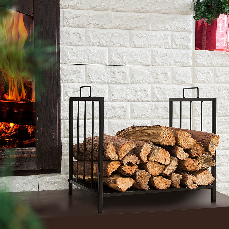 amazon com compact firewood rack wood log or kindling holder