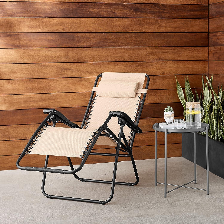 AmazonBasics Zero Gravity Chair nice fabric mesh