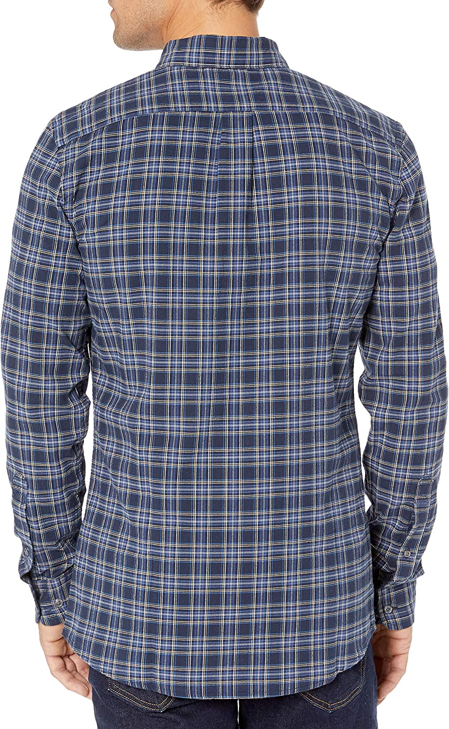 Goodthreads Mens Slim-Fit Long-Sleeve Plaid Oxford Shirt Brand