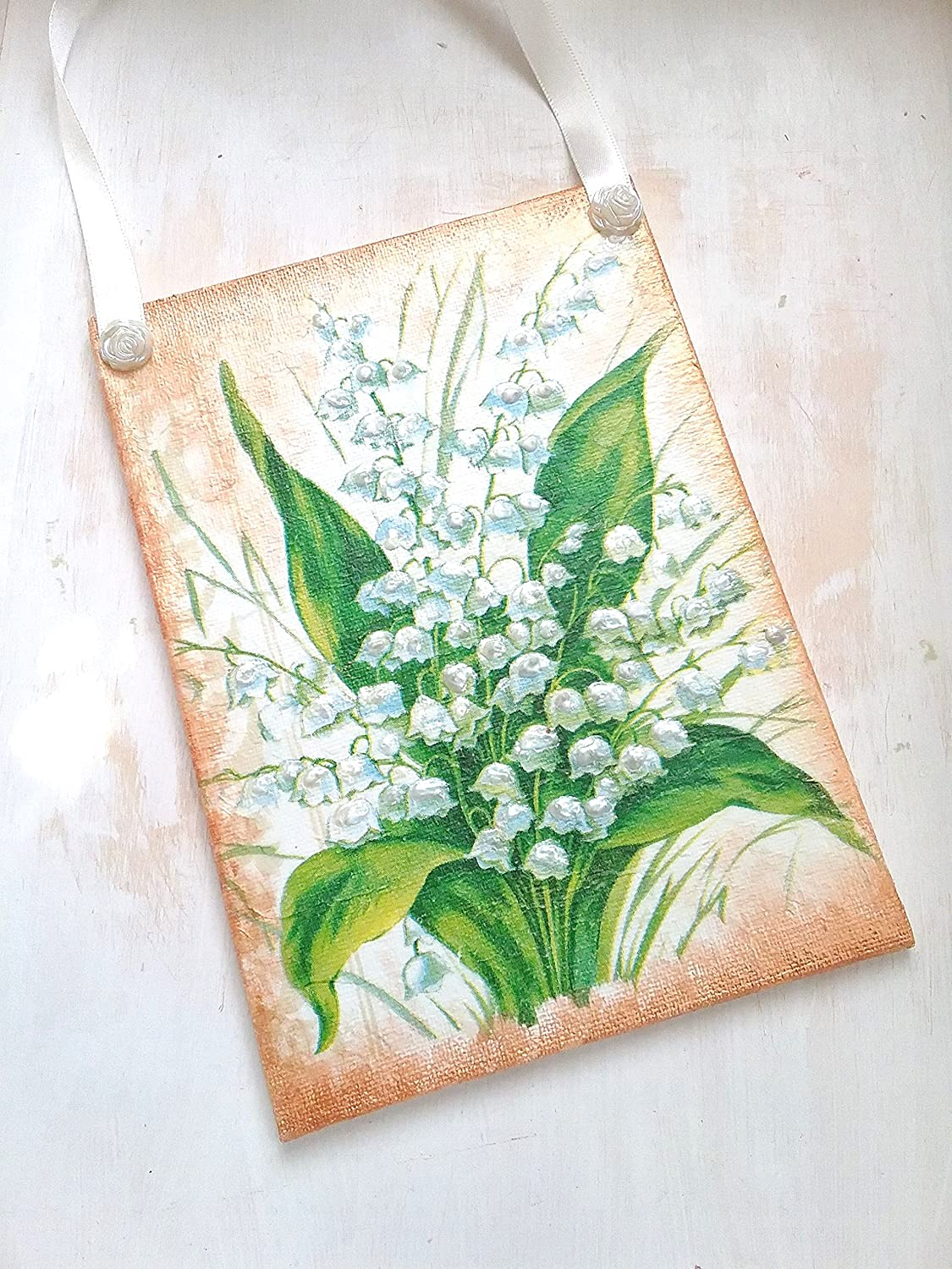 Lily Of The Valley Canvas Art Gifts For Her Small Birthday Gift Home Decor Wall Flowers